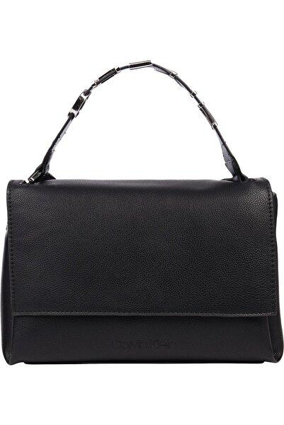 Kadın Siyah Flap Shoulder Bag Md Omuz Çantası