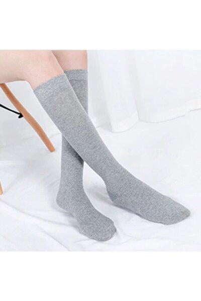 Kadın Çok Renkli Diz Altı Bambu Dikişsiz Çorap 4 lü