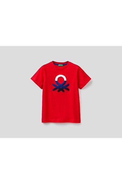 012 Kabartma Benetton Logolu Tshirt