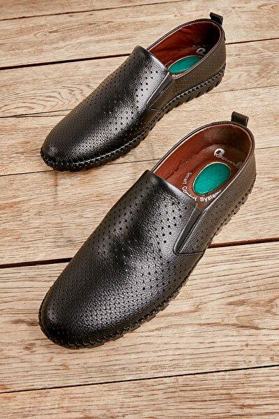Hakiki Deri Siyah Erkek Casual Ayakkabı L1811015803