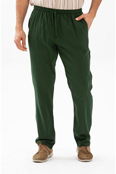 Şile Bezi Cepli Erkek Pantolon Yeşil