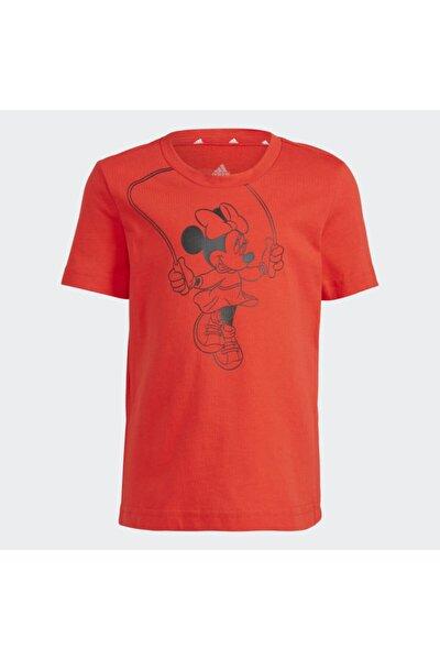 Kız Çocuk Kırmızı T Çocuk Mıckey Tişört Gn4934 G Dsny