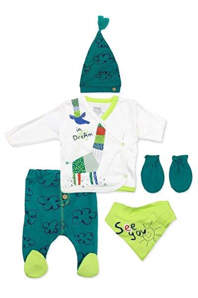 Bebek Origami Yeşil Zürafalı 5 Li Takımı K1321