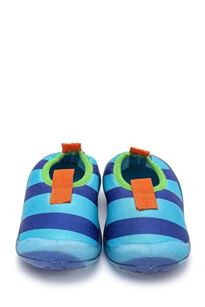 Erkek Çocuk Lacivert Çizgili Deniz Ayakkabısı f-474