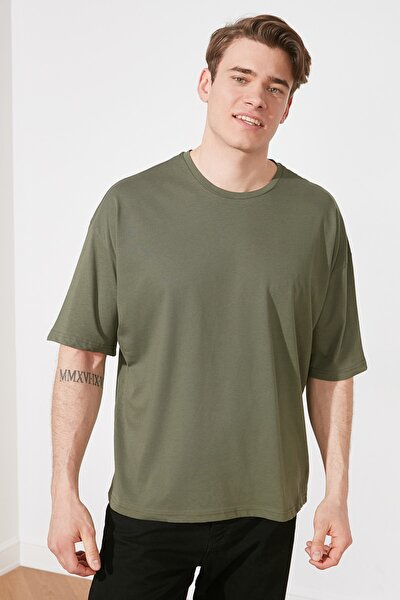 Haki Erkek Oversize T-Shirt TMNSS21TS3022