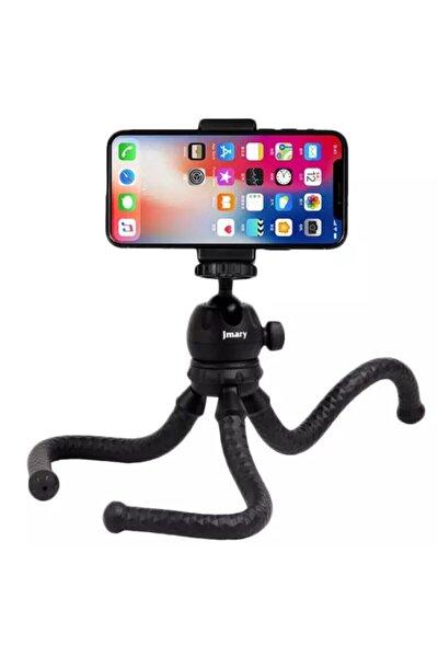 Profesyonel Fotoğraf Ve Video Çekimi Tripot Telefon Tutucu Kamera Tripod 360° Açılı Youtuber Tripodu