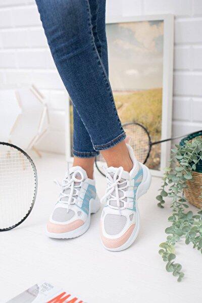 Kadın Pudra Mavi Spor Ayakkabı