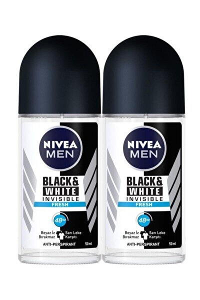Men Invisible Black&white Fresh Erkek Deodorant Roll-on 50 Ml*2 Adet