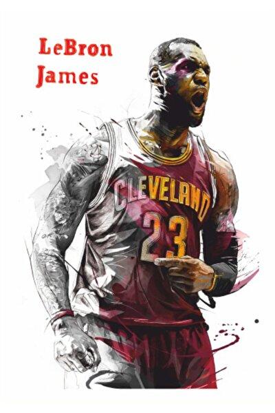 Basketbol Lebron James 70 Cm X 100 Dev Kuşe Poster (silindir Kolili Kargo Ile)