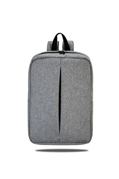 Id-001 Notebook Laptop Sırt Çantası Gri 15,6