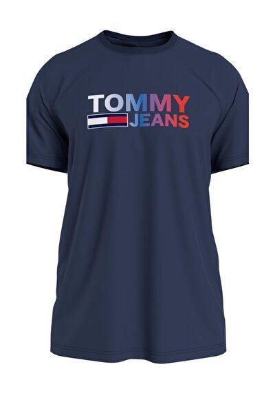Erkek Mavi T-Shirt Tjm Color Corp Logo Tee DM0DM10235