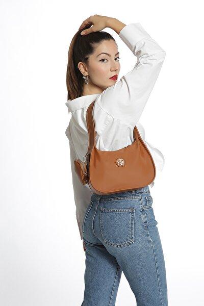 Kadın Taba Caynda Saten Baget Çanta
