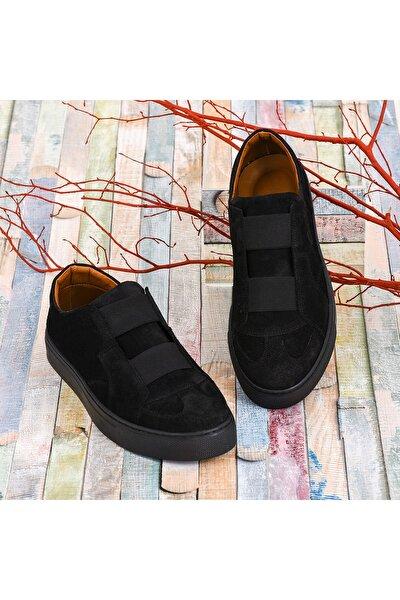 Kadın Siyah Hakiki Deri Sneaker
