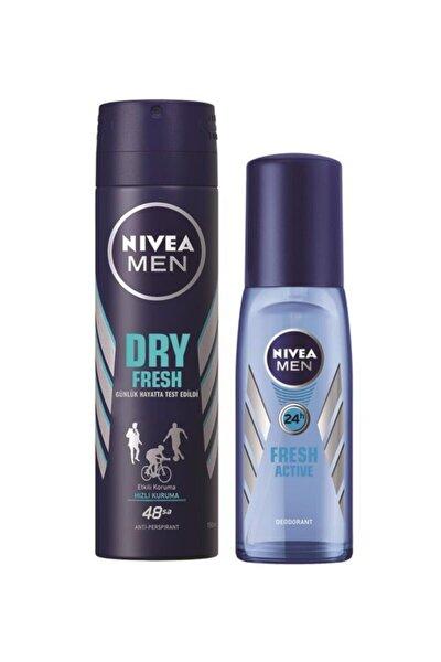 Dry Fresh Deodorant 150ml + Fresh Active Pump Sprey 75ml