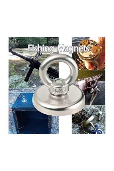 Magnet Fishing, 25mm Askılı Güçlü Neodyum Mıknatıs, Kurtarma Mıknatısı