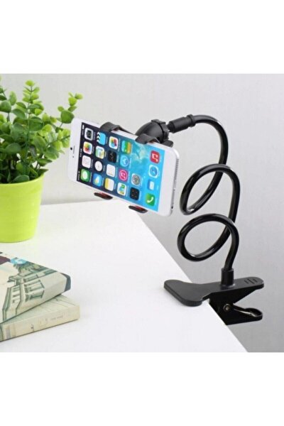 Siyah Akrobat Telefon Tutucu Oynar Başlıklı