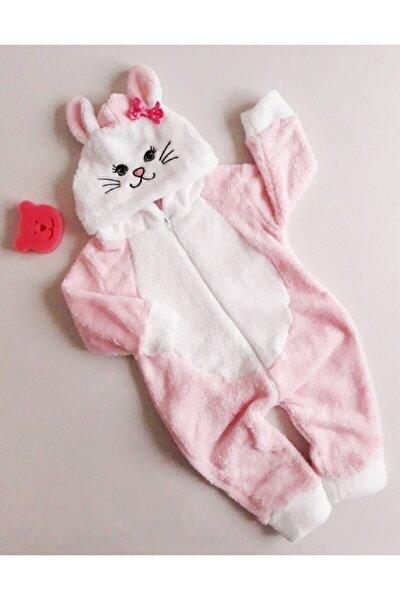 Kız Bebek Kedili Peluş Tulum