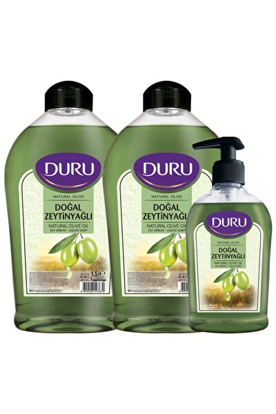 Natural Olive Zeytinyağlı Sıvı Sabun 1,5+1,5+300ml