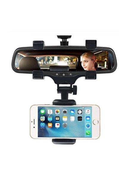 Att-18 360 Derece Apple Iphone Samsung Için Araba Dikiz Aynası Montaj Telefon Tutucu