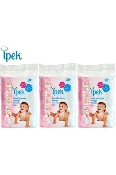 Bebek Temizleme Pamuğu 180 Adet (3pk*60)