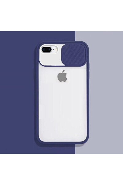 iPhone 7 Plus Kılıf Slayt Sürgülü Kamera Korumalı Renkli Silikon