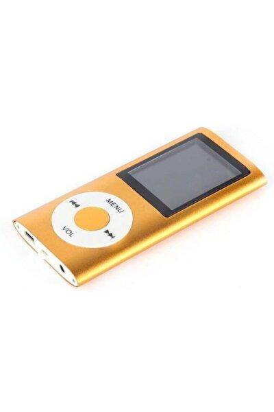 Digital Renkli Ekranlı Mp3-mp4 Çalar Hafıza Kartı Girişli Metal Gold