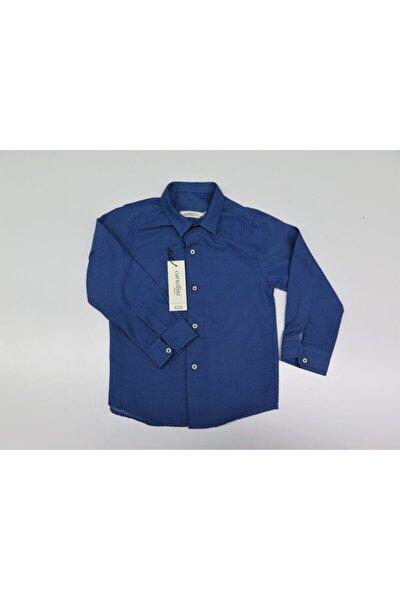 Erkek Çocuk Mavi Gömlek