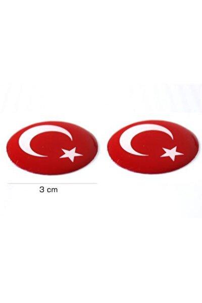Türk Bayrağı Damla Sticker Sk002987