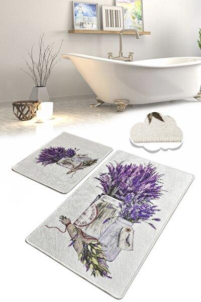 Purpura Djt 2 Li Set Banyo Paspası Klozet Takımı