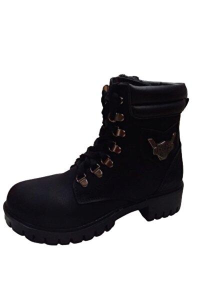 Kadın Siyah Kışlık Bot Ayakkabı