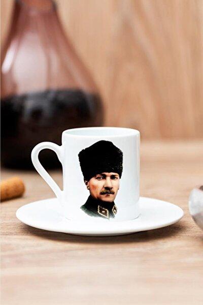 Kalpaklı Atatürk Baskılı Kahve Fincanı