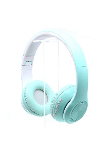 Kablosuz Mikrofonlu Bluetooth Kulaküstü Turkuaz Kulaklık