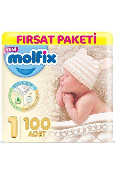 Dev Beden:1 Yeni Doğan 100 Adet Bebek Bezi 2-5 kg