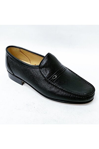Erkek Siyah Hakiki Kösele Ayakkabı