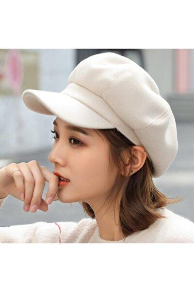 Kadın Ekru Yeni Sezon Şapka