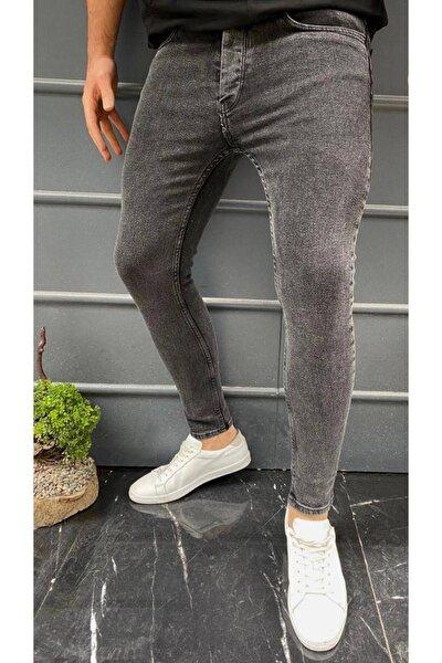 Erkek Antrasit Gri Skinny Fit Dar Paça Pantolon