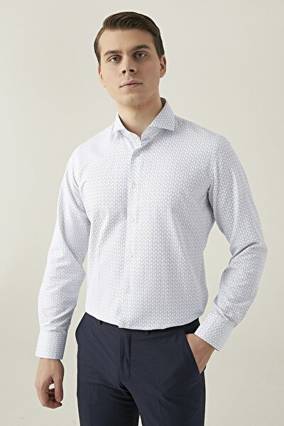 Erkek Beyaz DS DAMAT GÖMLEK (Slim Fit) 3HF02EE02185Y_801