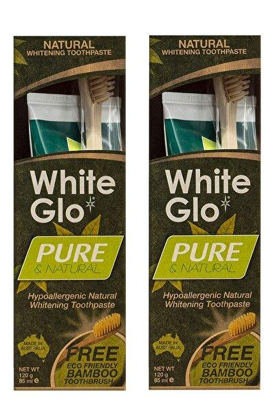 Pure Natural Doğal Ve Bitkisel Beyazlatıcı Diş Macunu + Bambu Diş Fırçası Avantaj Paket X 2 Adet