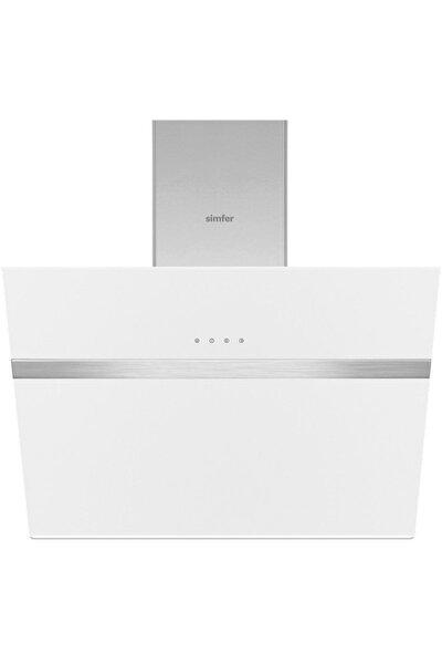 8612 60 cm Beyaz Eğik Cam Davlumbaz-Touch Kontrol