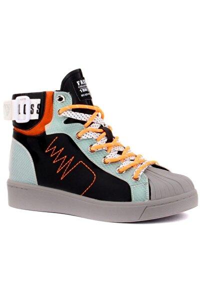 20k328-3 Siyah-gri Renk Sneaker Günlük Ayakkabı
