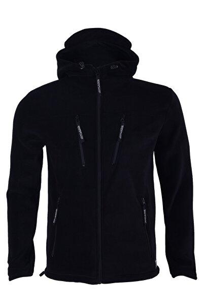 Erkek Siyah Army Tactical Polar Kapüşonlu Ceket