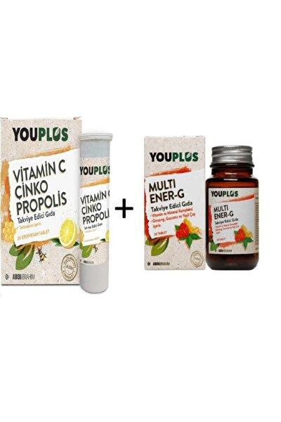 Vitamin C 20 Efervesan Tablet + Multi Ener-g 30 Tablet