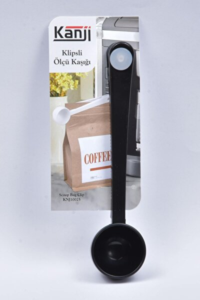 Klipsli Çay Kahve Ölçü Kaşığı - Siyah