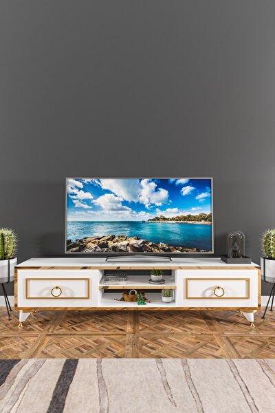 Lotus Tv Ünitesi Beyaz