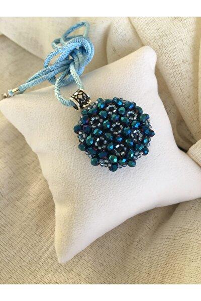 -kristal Cevşen Kolye - Parlak Mavi