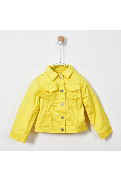 Kız Çocuk Sarı Basic Mont