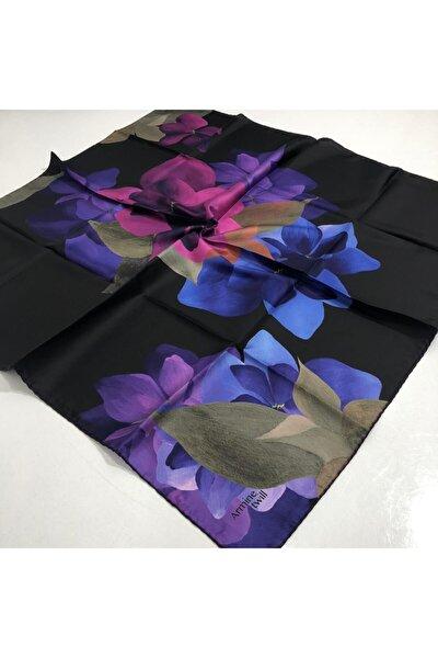 Polyester Twill Çiçek Desenli Eşarp