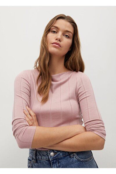 Kadın Pembe Fitilli Tişört