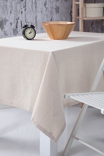 Düz Keten Otantik Masa Örtüsü 140x180 Cm