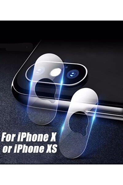 Iphone X Xs Uyumlu Arka Kamera Lens Koruma Nano Temperli Camı Kamera Koruma Koruyucu 9h Cam